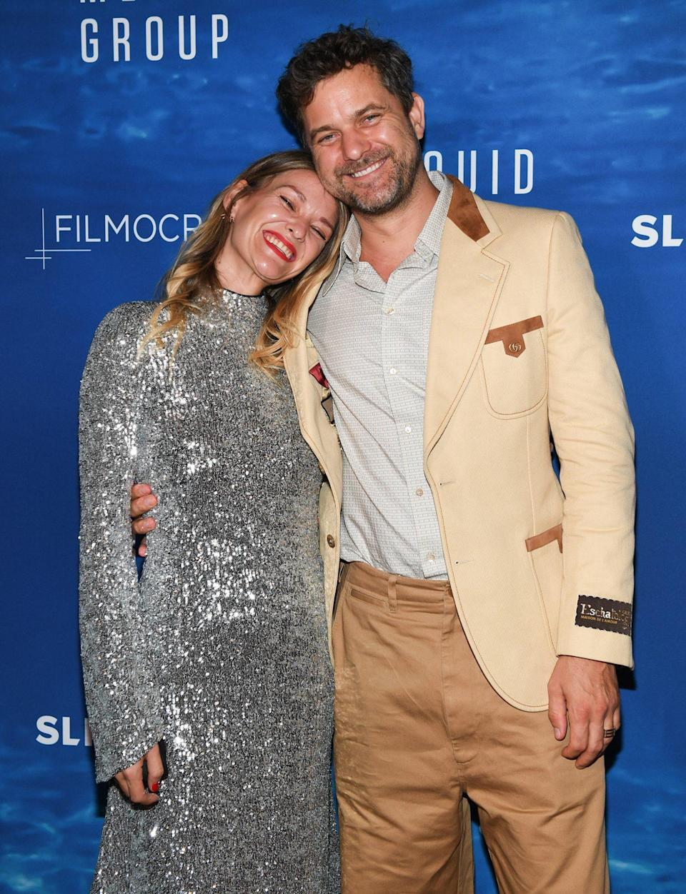 <p>Joshua Jackson and sister Aisleagh Jackson share a sweet moment as Liquid Media Group hosts <em>The Big Splash</em> held at Windsor Arms Hotel on Sept. 13 in Toronto.</p>