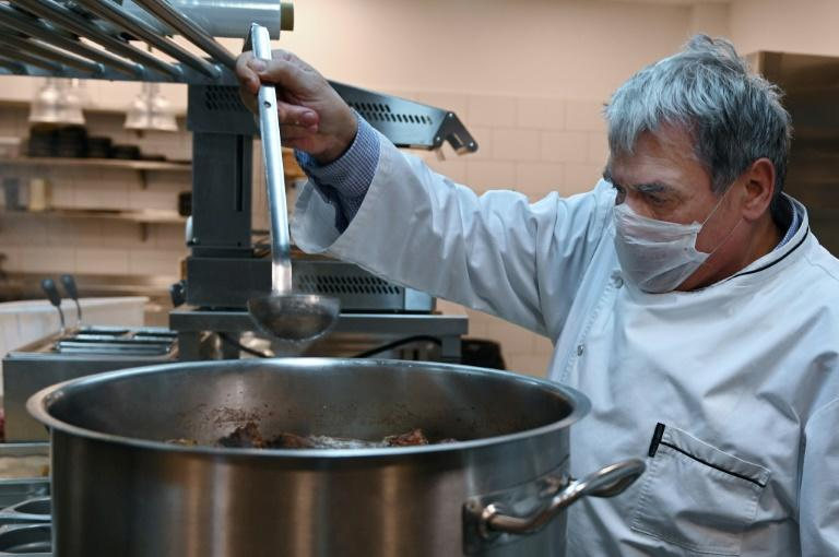 """Hungarian Gastronomic Society president Tamas B. Molnar says cooking for hospital workers is """"the least we can do"""""""