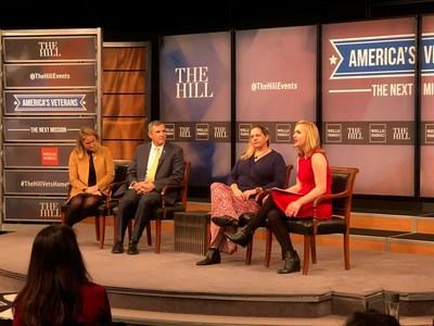 Panelists discussed veterans employment and the barriers U.S. veterans face in their transitions to civilian life at an event The Hill magazine hosted today at The Newseum. Wounded Warrior Project (WWP) CEO Lt. Gen. (Ret.) Mike Linnington; Caitlin Thompson, VP of Community Partnerships with Cohen Veterans Network; and Meghan Ogilvie, CEO of Dog Tag Inc. joined moderator Julia Manchester, staff writer at The Hill.