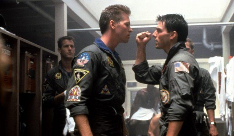 Maverick and Iceman face off in Top Gun.