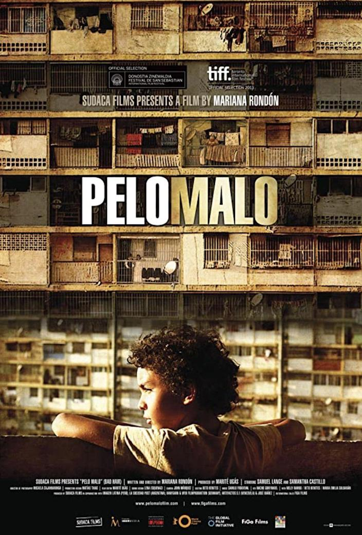 """<p>Set in Caracas, Venezuela, Junior (<a href=""""https://www.imdb.com/name/nm5853160/"""" rel=""""nofollow noopener"""" target=""""_blank"""" data-ylk=""""slk:Samuel Lange Zambrano"""" class=""""link rapid-noclick-resp""""><strong>Samuel Lange Zambrano</strong></a>) lives with his widowed mother, (<a href=""""https://www.imdb.com/name/nm5812395/"""" rel=""""nofollow noopener"""" target=""""_blank"""" data-ylk=""""slk:Samantha Castillo"""" class=""""link rapid-noclick-resp""""><strong>Samantha Castillo</strong></a>), and younger brother. Junior believes he has """"<a href=""""https://www.npr.org/2014/12/10/369645207/pelo-malo-is-a-rare-look-into-latin-american-race-relations"""" rel=""""nofollow noopener"""" target=""""_blank"""" data-ylk=""""slk:pelo malo"""" class=""""link rapid-noclick-resp"""">pelo malo</a>"""" (or """"bad hair"""" in English), a term in the Latinx community referring to Afro-textured, curly, or kinky hair. As he tries multiple different methods to straighten his hair, his mother becomes increasingly upset with him, even threatening to cut it all off. In addition to addressing racism, <a href=""""https://www.npr.org/2014/12/10/369645207/pelo-malo-is-a-rare-look-into-latin-american-race-relations"""" rel=""""nofollow noopener"""" target=""""_blank"""" data-ylk=""""slk:the film also tackles homophobia"""" class=""""link rapid-noclick-resp"""">the film also tackles homophobia</a>.</p><p><a class=""""link rapid-noclick-resp"""" href=""""https://www.amazon.com/Pelo-Malo-Samuel-Lange-Zambrano/dp/B01HPELXVI?tag=syn-yahoo-20&ascsubtag=%5Bartid%7C10055.g.35564148%5Bsrc%7Cyahoo-us"""" rel=""""nofollow noopener"""" target=""""_blank"""" data-ylk=""""slk:STREAM NOW"""">STREAM NOW</a></p>"""
