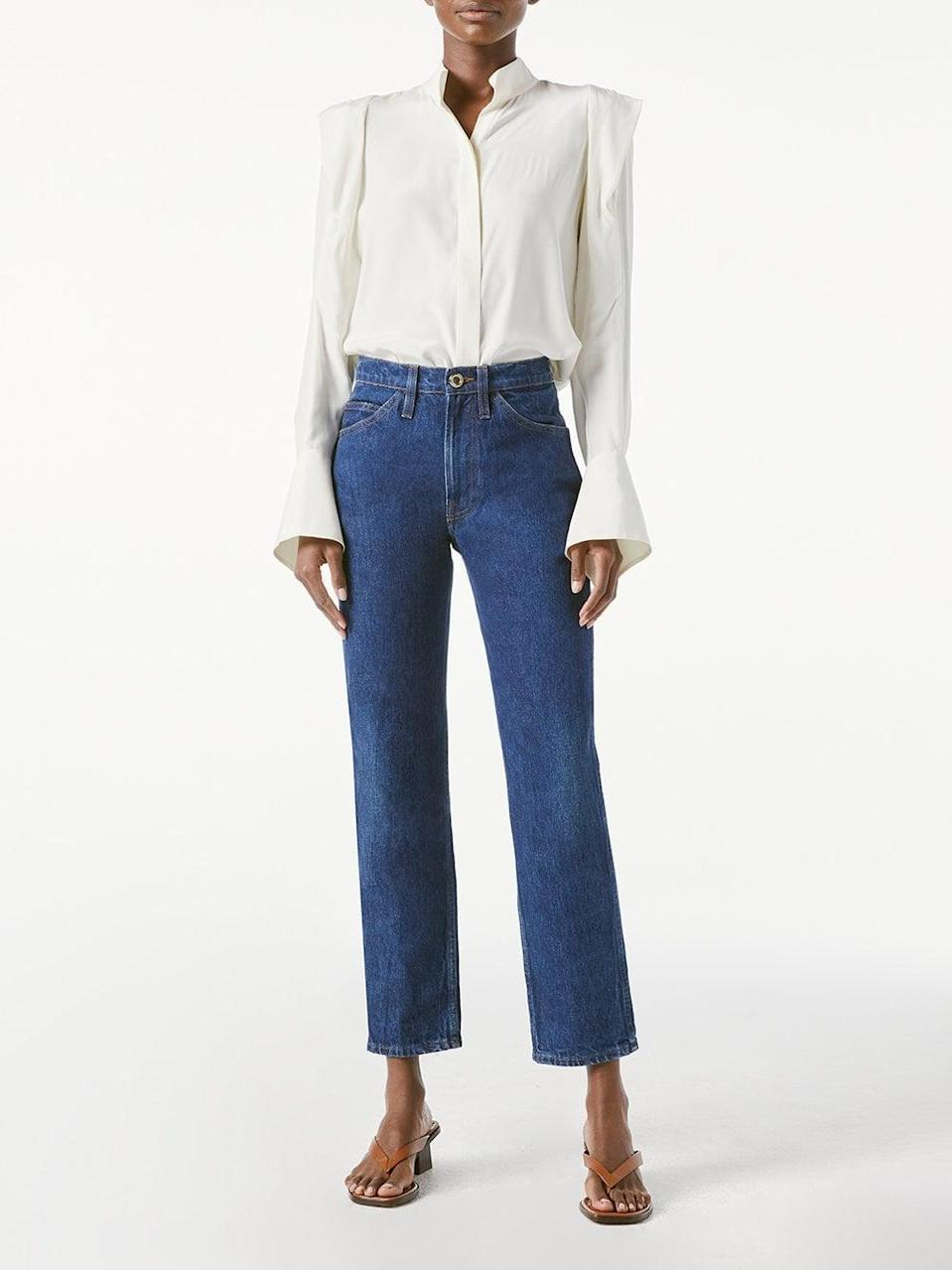 <p><span>Frame's Le Italien Straight</span> ($338) jeans come in the perfect medium blue wash with a high-rise fit.</p>