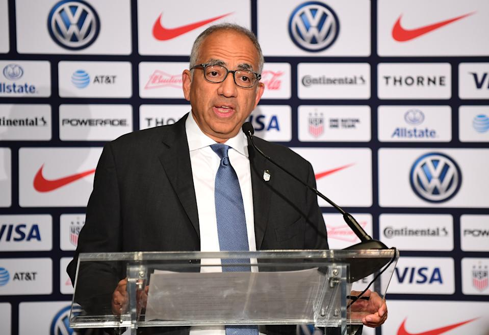 U.S. Soccer president Carlos Cordeiro is a key figure in the USWNT's equal pay lawsuit.. (Photo by Emilee Chinn/Getty Images)