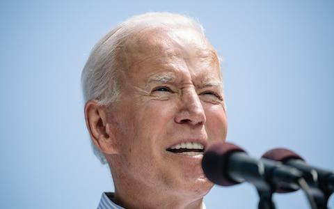 Joe Biden thinks he has the credentials to win back voters in the Rust Belt states - Credit: Bloomberg