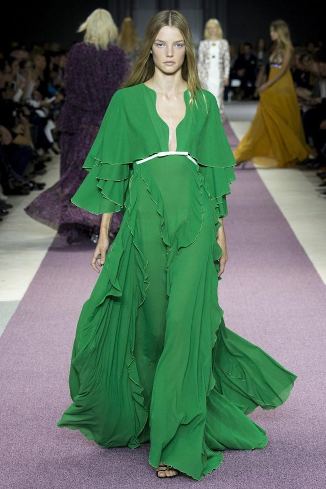 <p>This Giambattista Valli gown would be <i>perfect </i>for a St. Patrick's Day red … er, green carpet. (<i>Photo: Getty Images)</i></p>
