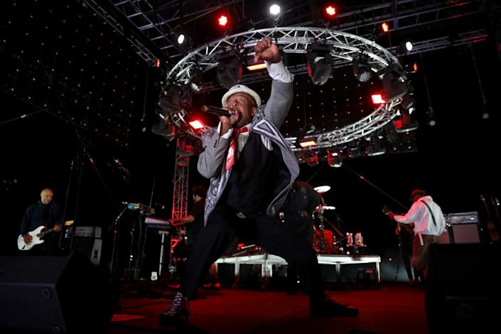 Fishbone's Angelo Moore at Concerts in Your Car at the Ventura County Fairgrounds.