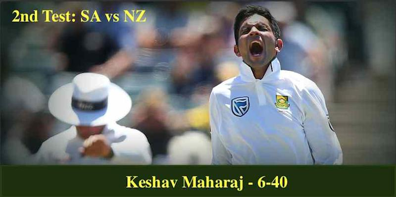 South Africa need 81 runs to win 2nd test against New Zealand