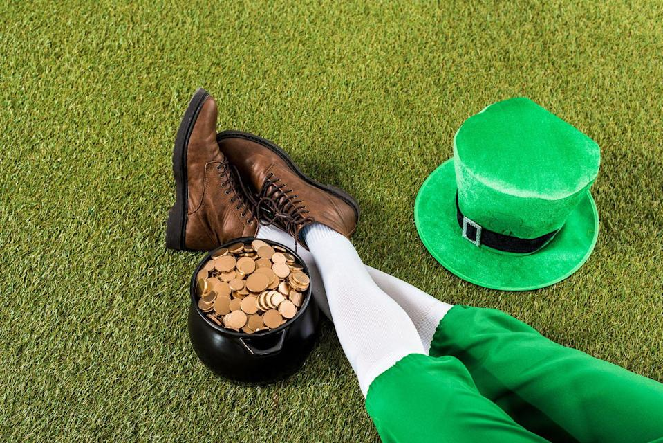 """<p>Split into teams to see who can flip the leprechaun hat on their teammate's head first.</p><p><strong>Get the tutorial at <a href=""""https://www.diva-girl-parties-and-stuff.com/st-patricks-day-party.html"""" rel=""""nofollow noopener"""" target=""""_blank"""" data-ylk=""""slk:Diva Girl Parties and Stuff"""" class=""""link rapid-noclick-resp"""">Diva Girl Parties and Stuff</a>. </strong></p><p><strong><a class=""""link rapid-noclick-resp"""" href=""""https://www.amazon.com/Patricks-Shamrock-Green-Themed-Accessory/dp/B07N3762NS/?tag=syn-yahoo-20&ascsubtag=%5Bartid%7C10050.g.26234489%5Bsrc%7Cyahoo-us"""" rel=""""nofollow noopener"""" target=""""_blank"""" data-ylk=""""slk:SHOP LEPRECHAUN HATS"""">SHOP LEPRECHAUN HATS</a><br></strong></p>"""
