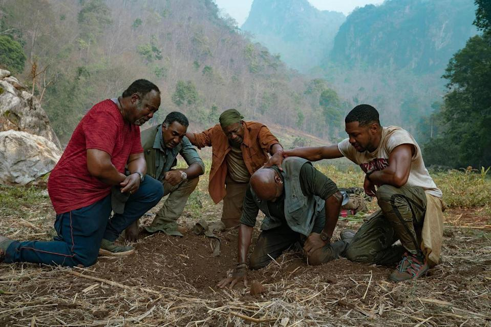 "<p>In the latest Spike Lee Joint, four war veterans return to Vietnam to recover the remains of their fallen squad leader, along with gold they all buried years before.</p><p><a class=""link rapid-noclick-resp"" href=""https://www.netflix.com/title/81045635"" rel=""nofollow noopener"" target=""_blank"" data-ylk=""slk:Watch Now"">Watch Now</a></p>"