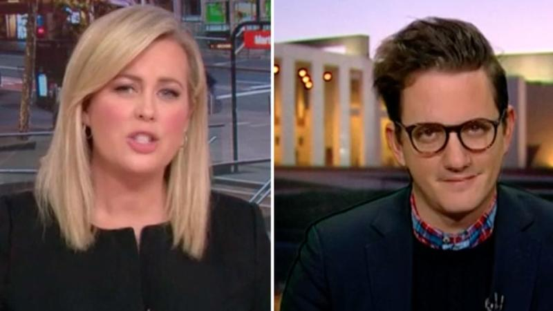 Sunrise host Samantha Armytage challenged Mark Di Stefano after he said it was