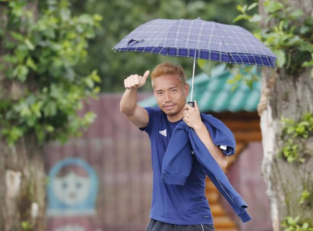 Soccer Football - World Cup - Japan Training - Japan Team Training Site, Kazan, Russia - June 20, 2018 Japan's Yuto Nagatomo after the training REUTERS/Toru Hanai