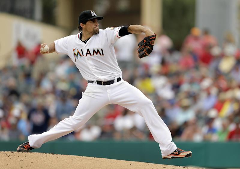 Eovaldi goes 2 innings, Miami and Red Sox tie 0-0