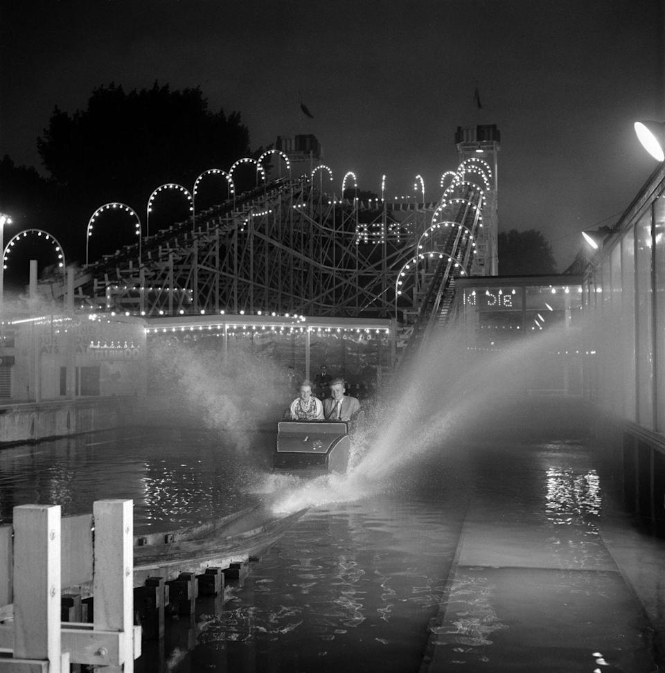 """<p>The Big Dipper was the main attraction at the Festival of Britain Pleasure Gardens, drawing famous riders from the Duchess of Kent to members of the Bolshoi Ballet. The coaster wasn't too tall — it only reached a height of about 50 feet — but it rocketed down its hill with a satisfying splash at the bottom. The ride remain in operation until the '70s, when, sadly, it was involved in a major accident that <a href=""""https://www.independent.co.uk/news/uk/home-news/battersea-park-big-dipper-disaster-in-1972-the-funfair-tragedy-the-nation-forgot-10302238.html"""" rel=""""nofollow noopener"""" target=""""_blank"""" data-ylk=""""slk:killed five people"""" class=""""link rapid-noclick-resp"""">killed five people</a>. </p>"""