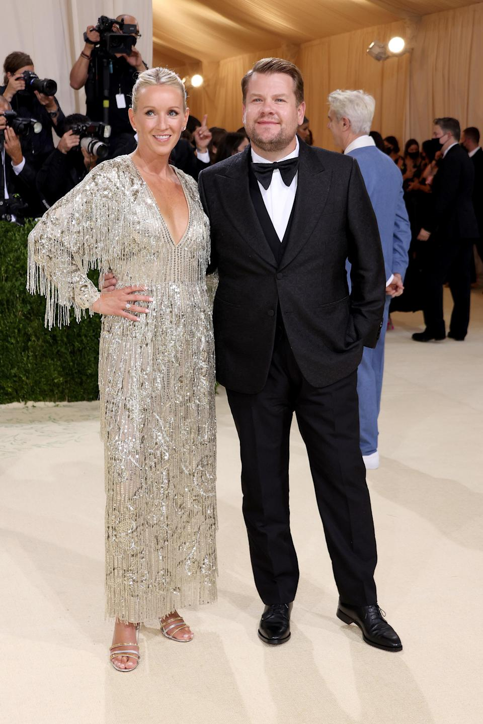 """<h1 class=""""title"""">Julia Carey and James Corden, The 2021 Met Gala Celebrating In America: A Lexicon Of Fashion - Arrivals</h1><cite class=""""credit"""">Getty</cite>"""