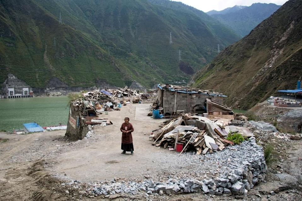 Mountains and rivers are revered as sacred in Tibetan Buddhism, and the extensive construction, which began in 2014, has alarmed locals who believe they can only live peacefully if the nature around them is protected. (AFP Photo/Johannes EISELE)
