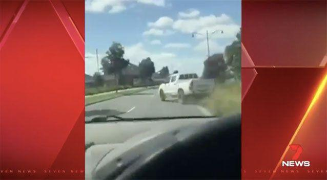 Dashcam vision of the erratic driver. Source: 7News