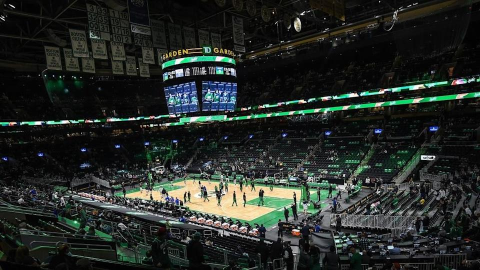 Wide shot of TD Garden prior to Game 3 vs. Nets