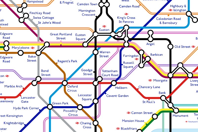 2040 'Tube map: The impressive design shows how much the London Underground transport network may change in the coming years: Alastair Carr