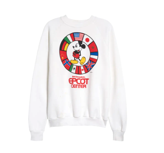 Unisex Vintage 1982 Epcot Center Cotton Blend Sweatshirt. Image via Nordstrom.