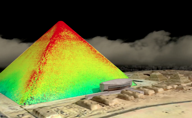 <strong>Infrared thermography readings of the structure were also taken </strong> (Scan Pyramids Mission)