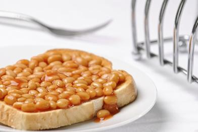 Beans on toast, a healthy breakfast option