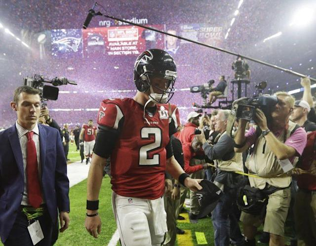 """Matt Ryan says talking about last year's Super Bowl is """"wasted time."""" (AP)"""
