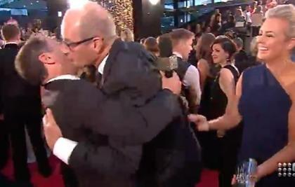 Kochie and Karl got close, very quickly! Photo: Channel 9.