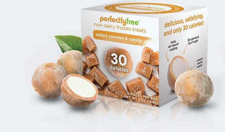 """<p>Samantha Bartholomew, MS, RDN, said that her favorite low-carb dessert to buy from Amazon is Perfectly Free Frozen Bites. """"They are all-natural, delicious, and portion-controlled at only 30 calories per bite and only five grams of carbs. They're the perfect low-carb, non-dairy alternative to ice cream."""" She especially likes <a href=""""https://www.popsugar.com/buy/Salted%20Caramel%20Vanilla-469664?p_name=Salted%20Caramel%20Vanilla&retailer=amazon.com&price=35&evar1=fit%3Aus&evar9=46392882&evar98=https%3A%2F%2Fwww.popsugar.com%2Ffitness%2Fphoto-gallery%2F46392882%2Fimage%2F46393419%2FBuy-Perfectly-Free-Frozen-Bites&prop13=mobile&pdata=1"""" rel=""""nofollow"""" data-shoppable-link=""""1"""" target=""""_blank"""" class=""""ga-track"""" data-ga-category=""""Related"""" data-ga-label=""""https://www.amazon.com/PERFECTLY-FREE-Frozen-Bites-Allergy-Free/dp/B07MFR61YC/ref=sr_1_3?keywords=perfectlyfree&amp;qid=1563295537&amp;s=gateway&amp;sr=8-3&amp;th=1%22%20target=%22_blank"""" data-ga-action=""""In-Line Links"""">Salted Caramel Vanilla</a> ($35 for six packs).</p>"""