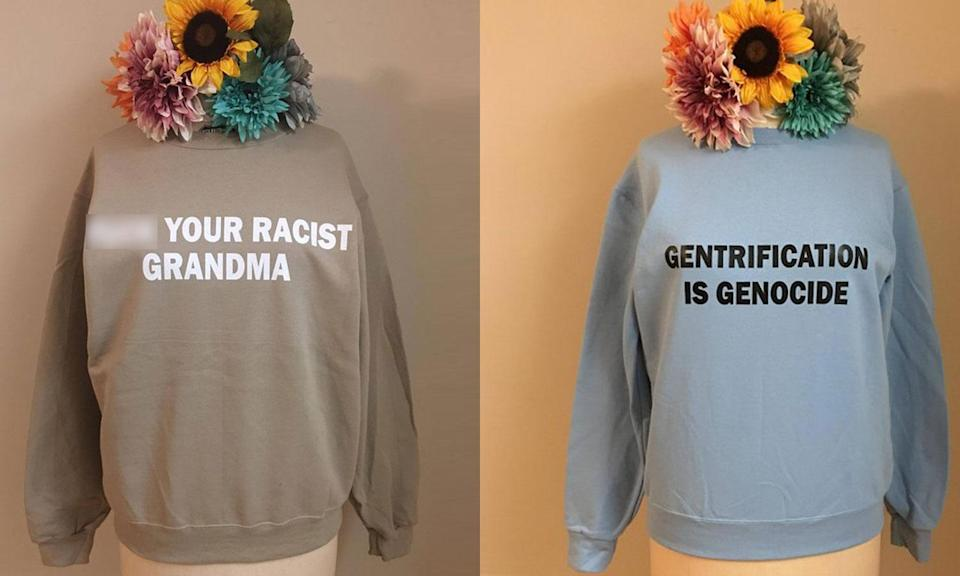 Splendid Rain Co. slogan sweatshirts. (Photo: Etsy/Splendid Rain Co.)