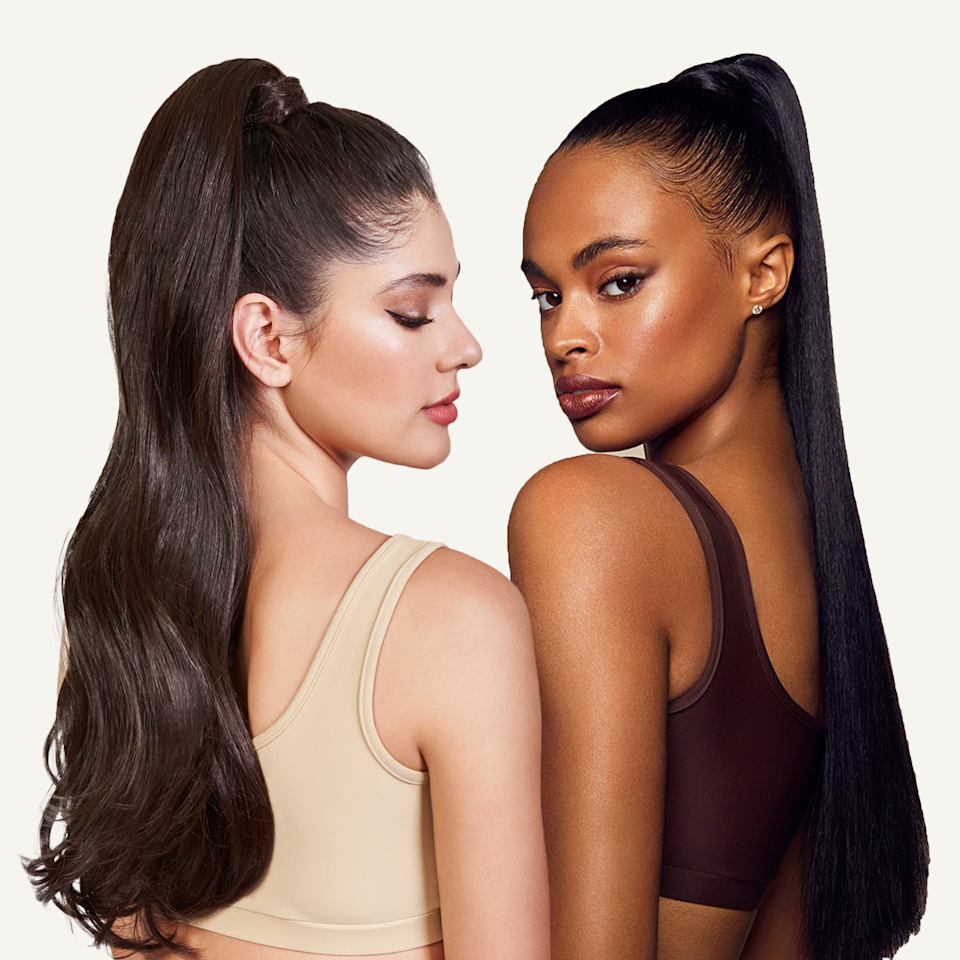 """<p><strong>Next</strong></p><p>inhhair.com</p><p><strong>$54.00</strong></p><p><a href=""""https://inhhair.com/collections/clip-in-ponytail-extensions/products/brit-long-curly-ponytail-synthetic-hair-extensions"""" rel=""""nofollow noopener"""" target=""""_blank"""" data-ylk=""""slk:Shop Now"""" class=""""link rapid-noclick-resp"""">Shop Now</a></p><p>If you're looking to channel your inner Ariana Grande, this ponytail is all you need. Simply clip the pre-waved pony in to your hair for a universally-flattering look.</p>"""