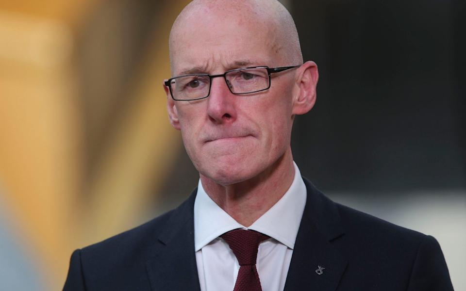 John Swinney, the Education Secretary, performed a u-turn in the summer over his plans to have schools shut for longer - Fraser Bremner/PA