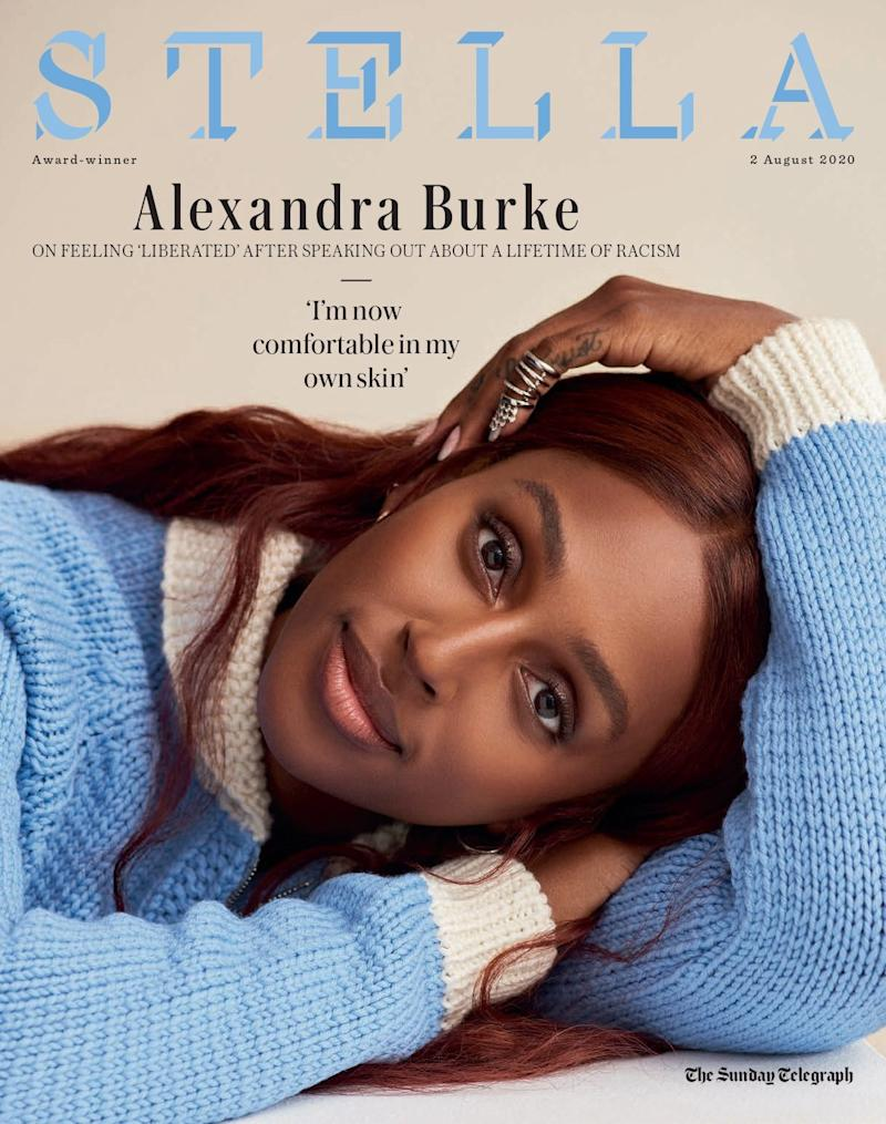 Alexandra Burke on the cover of Stella - Philip Sinden