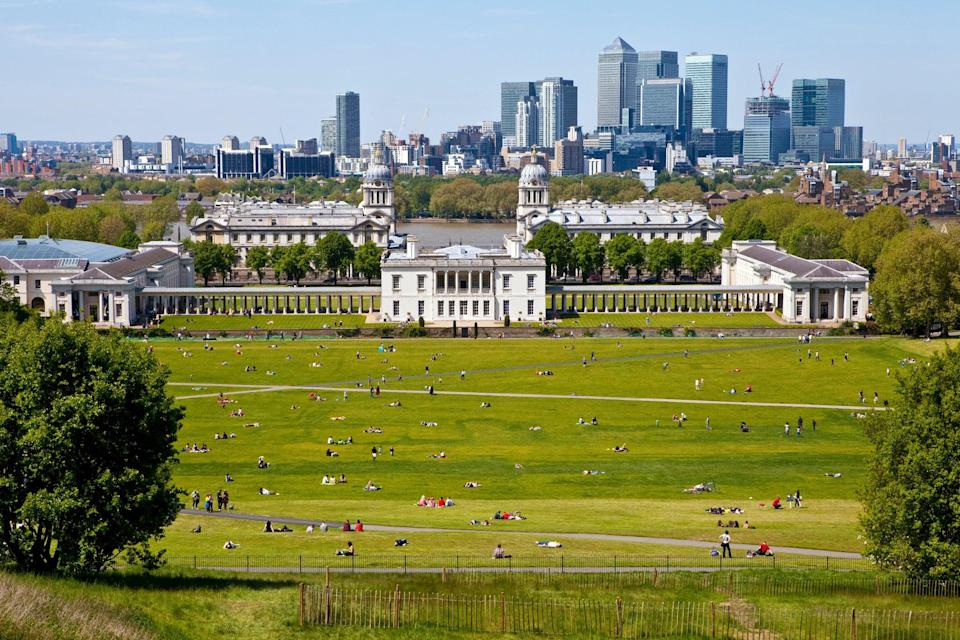 The view from Greenwich ObservatoryGetty/iStock