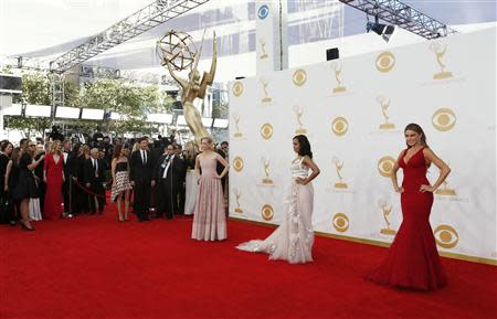 Jones, Washington and Vergara arrive at the 65th Primetime Emmy Awards in Los Angeles