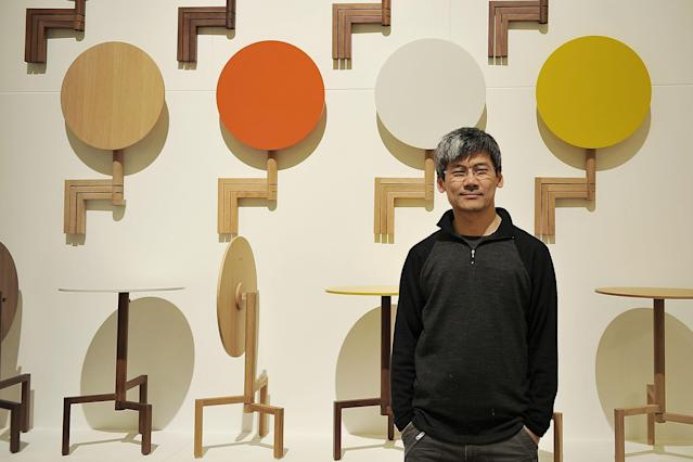 MILAN, ITALY - APRIL 09: Designer Samuel Chan poses at Brera District during the 2013 Milan Design Week on April 9, 2013 in Milan, Italy. (Photo by Stefania D'Alessandro/Getty Images)
