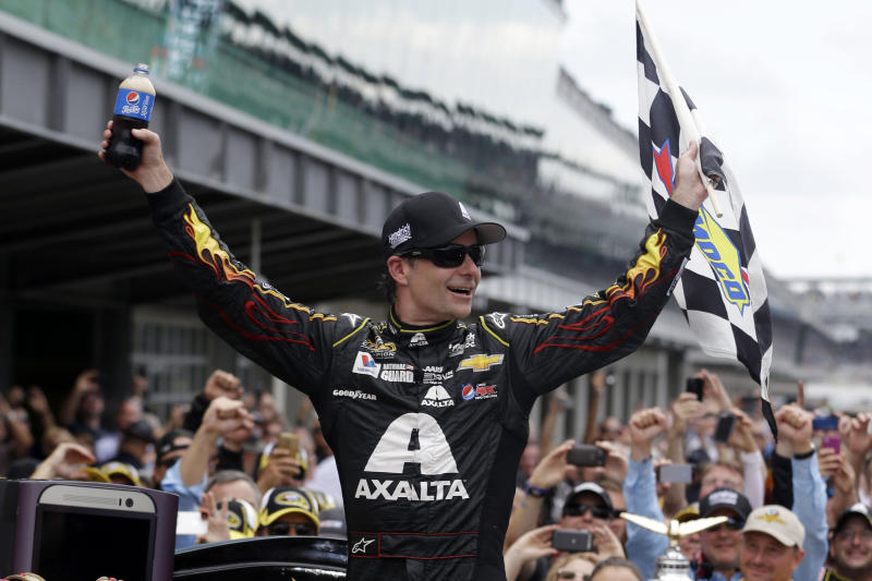 Gordon eyeing 5th title after big Brickyard win