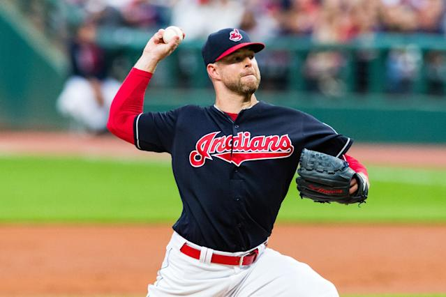 Corey Kluber dominated during Cleveland's 20th straight win. (Photo by Jason Miller/Getty Images)