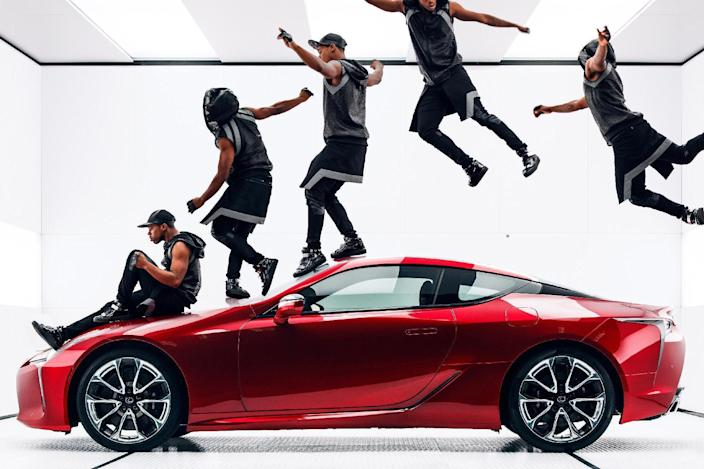 """This photo provided by Lexus shows a still from the company's """"Man and Machine"""" Super Bowl 51 spot. The New England Patriots defeated the Atlanta Falcons, 34-28, in overtime, in Super Bowl 51, on Sunday, Feb. 5, 2017. (Lexus via AP)"""