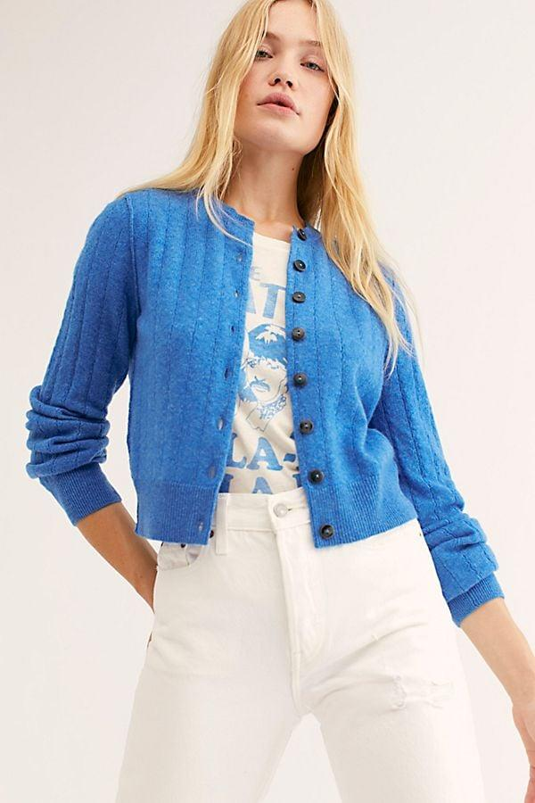 "<p>The blue hue of this <a href=""https://www.popsugar.com/buy/Free-People-Everyday-Cashmere-Cardi-493900?p_name=Free%20People%20Everyday%20Cashmere%20Cardi&retailer=freepeople.com&pid=493900&price=128&evar1=fab%3Aus&evar9=45816436&evar98=https%3A%2F%2Fwww.popsugar.com%2Ffashion%2Fphoto-gallery%2F45816436%2Fimage%2F46673268%2FFree-People-Everyday-Cashmere-Cardi&list1=shopping%2Csweaters%2Cspring%2Ccrop%20tops%2Cspring%20fashion&prop13=mobile&pdata=1"" rel=""nofollow"" data-shoppable-link=""1"" target=""_blank"" class=""ga-track"" data-ga-category=""Related"" data-ga-label=""https://www.freepeople.com/shop/everyday-cashmere-cardi/?category=SEARCHRESULTS&amp;color=040"" data-ga-action=""In-Line Links"">Free People Everyday Cashmere Cardi</a> ($128) is standout.</p>"