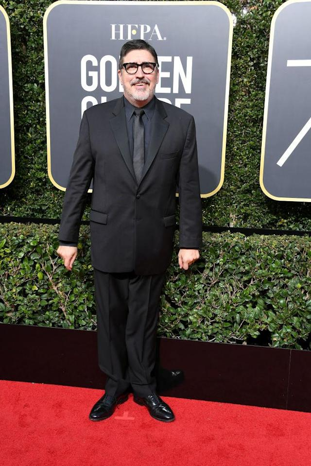 <p>Alfred Molina, nominated as Best TV Supporting Actor in <em>Feud: Bette and Joan</em> attends the 75th Annual Golden Globe Awards at the Beverly Hilton Hotel in Beverly Hills, Calif., on Jan. 7, 2018. (Photo: Steve Granitz/WireImage) </p>