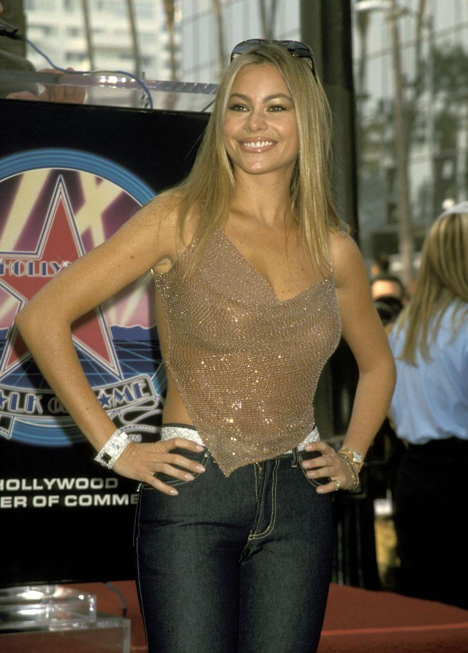 """<p>Even though she was 10 years away from landing her <a href=""""https://www.marieclaire.com/celebrity/g28699661/modern-family-cast-photos-then-now/"""" rel=""""nofollow noopener"""" target=""""_blank"""" data-ylk=""""slk:breakthrough role in"""" class=""""link rapid-noclick-resp"""">breakthrough role in </a><em><a href=""""https://www.marieclaire.com/celebrity/g28699661/modern-family-cast-photos-then-now/"""" rel=""""nofollow noopener"""" target=""""_blank"""" data-ylk=""""slk:Modern Family"""" class=""""link rapid-noclick-resp"""">Modern Family</a></em>, Sofía Vergara was already working her way up to the star status she has now in the late '90s, after moving to the U.S. from her native country of Colombia in 1998.</p>"""