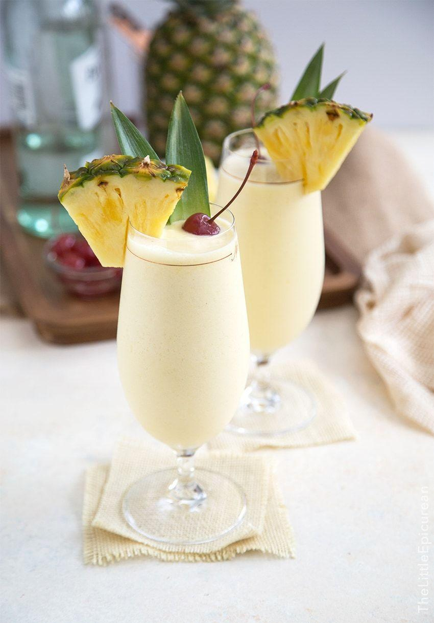"""<p>There's nothing that says summer afternoon by the pool quite like a frozen piña colada. </p><p>Get the recipe at <a href=""""https://www.thelittleepicurean.com/2016/07/frozen-pina-colada.html"""" rel=""""nofollow noopener"""" target=""""_blank"""" data-ylk=""""slk:The Little Epicurean"""" class=""""link rapid-noclick-resp"""">The Little Epicurean</a>. </p>"""