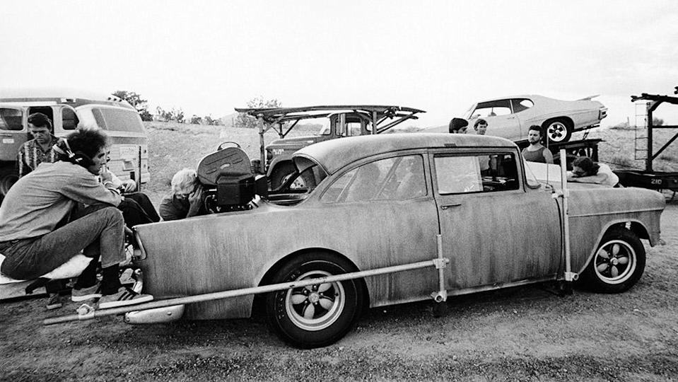 """Monte Hellman shooting """"Two-Lane Blacktop"""" on location - Credit: Courtesy Everett Collection"""