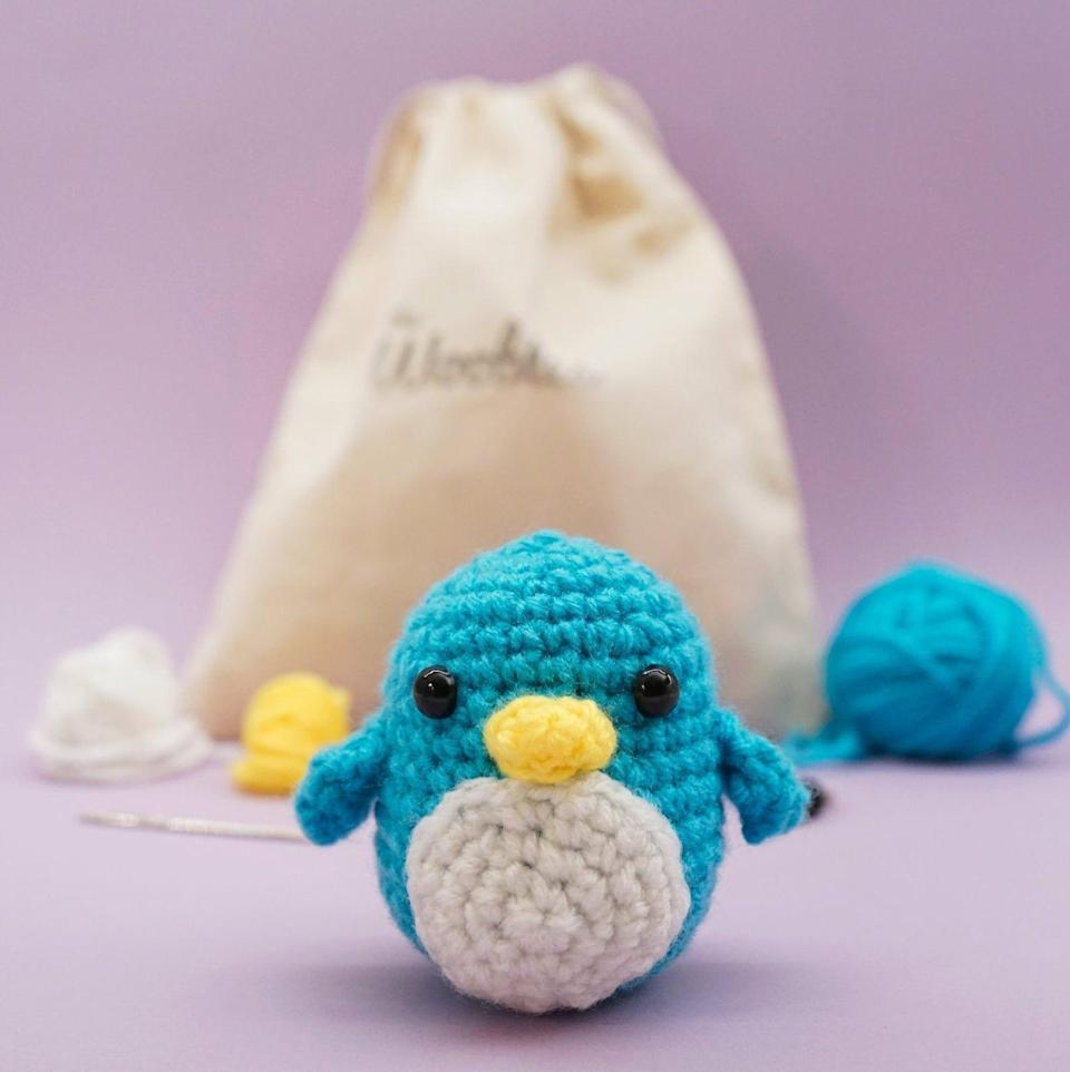 """<p><strong>thewoobles</strong></p><p>etsy.com</p><p><strong>$20.00</strong></p><p><a href=""""https://go.redirectingat.com?id=74968X1596630&url=https%3A%2F%2Fwww.etsy.com%2Flisting%2F676029601%2Fbeginner-crochet-kit-penguin-by-the&sref=https%3A%2F%2Fwww.womenshealthmag.com%2Flife%2Fg33844080%2Fgag-gifts%2F"""" rel=""""nofollow noopener"""" target=""""_blank"""" data-ylk=""""slk:Shop Now"""" class=""""link rapid-noclick-resp"""">Shop Now</a></p><p>If someone's been picking up a lot of lockdown hobbies, they'll find this crochet kit for beginners pretty darn perfect. Plus, the penguin you make at the end is super cute.</p>"""