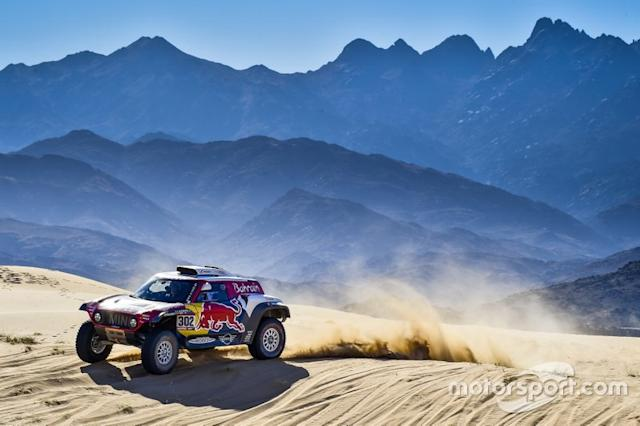 "#302 JCW X-Raid Team: Stephane Peterhansel, Paulo Fiuza <span class=""copyright"">X-Raid Team</span>"