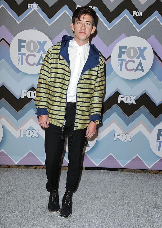 Kevin Mchale arrives at the 2013 TCA Winter Press Tour - FOX All-Star Party at The Langham Huntington Hotel and Spa on January 8, 2013 in Pasadena, California.
