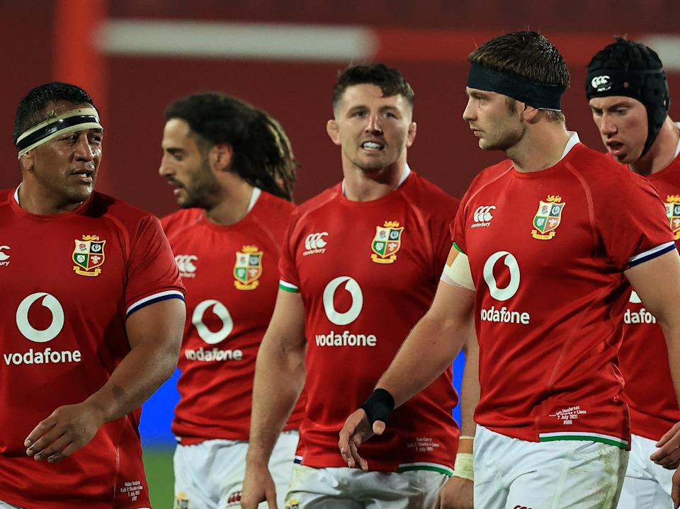 Lions players after their win against the Sharks (Getty Images)