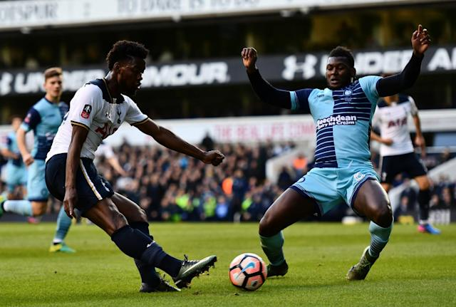 Josh Onamah played for Spurs in their FA Cup thriller against Wycombe last season