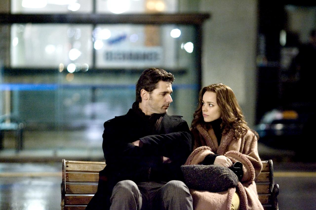 """We first got this story in 2003 as a novel by Audrey Niffenegger, and then six years later the movie came out. It centers on Chicago librarian Henry De Tamble (Eric Bana), who has a genetic disorder that causes him to float uncontrollably between time periods. On one of his journeys he meets Claire (Rachel McAdams), whom he falls in love with. But their marriage is made all the more complicated by his inability to (literally) stay in one era. <em>Buy the book on Amazon</em> <a href=""""https://www.amazon.com/The-Time-Travelers-Wife/dp/B000FMQQ2O"""" rel=""""nofollow""""><em>here.</em></a>"""