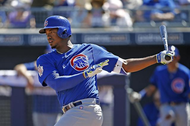 Outfielder Eloy Jimenez was traded to the White Sox in the Jose Quintana deal prior to the MLB trade deadline. (AP)